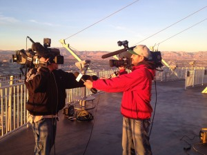 Between TV Live Shots at Stratosphere Tower aka Dueling Cameras