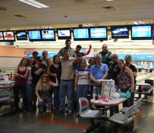 Aquarius Casino Resort Team Members Bowl to Raise Money for Meals on Wheels