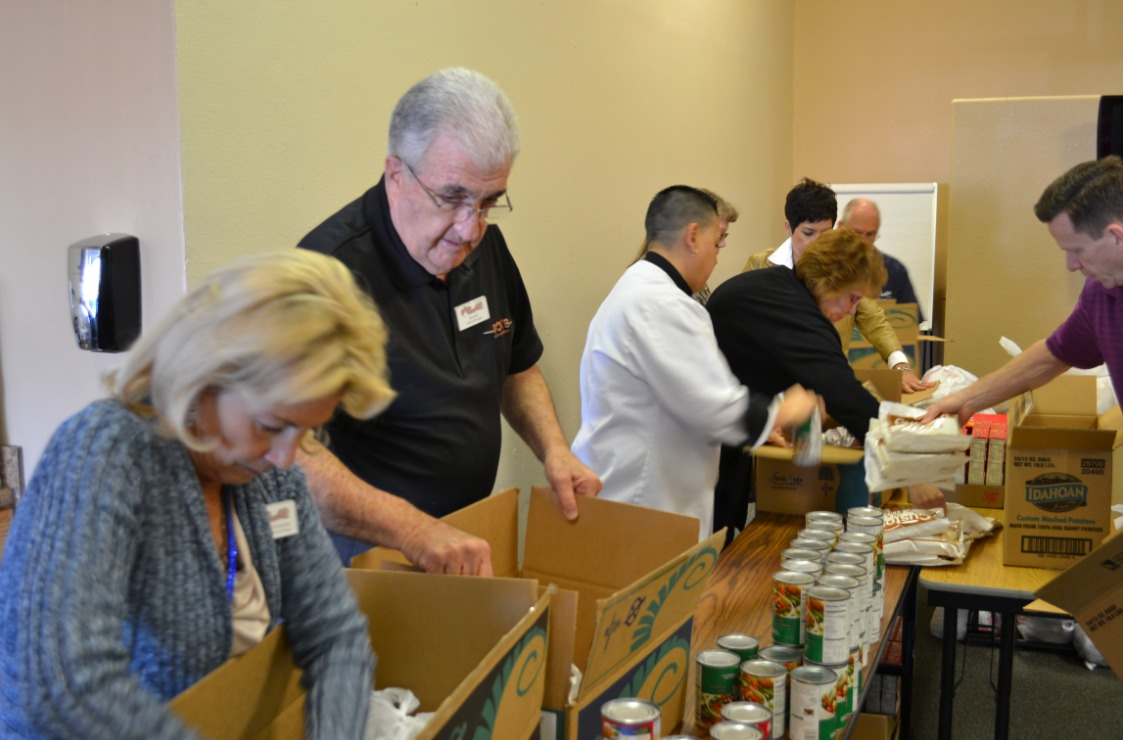 Arizona Charlie's Casinos Employees Prepared Food Boxes to