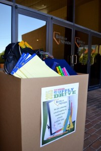 Bank of Nevada Back to School Supply Drive