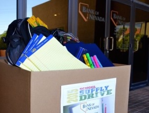 Bank of Nevada School Supply Drive Starts August 10th!