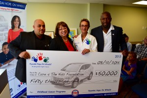 Cure 4 The Kids Foundation Receives $50,000 Hyundai Hope on Wheels® Impact Award