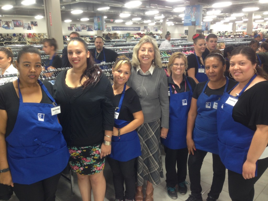 Congresswoman Dina Titus with Goodwill Team Members
