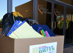 Bank of Nevada Collecting Back-to-School Supplies for At-Risk Students in August